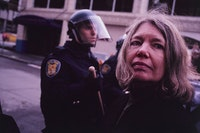 Allan Sekula, <em>Waiting for Tear Gas [white globe to black]</em>, 1999-2000. © Allan Sekula Studio.