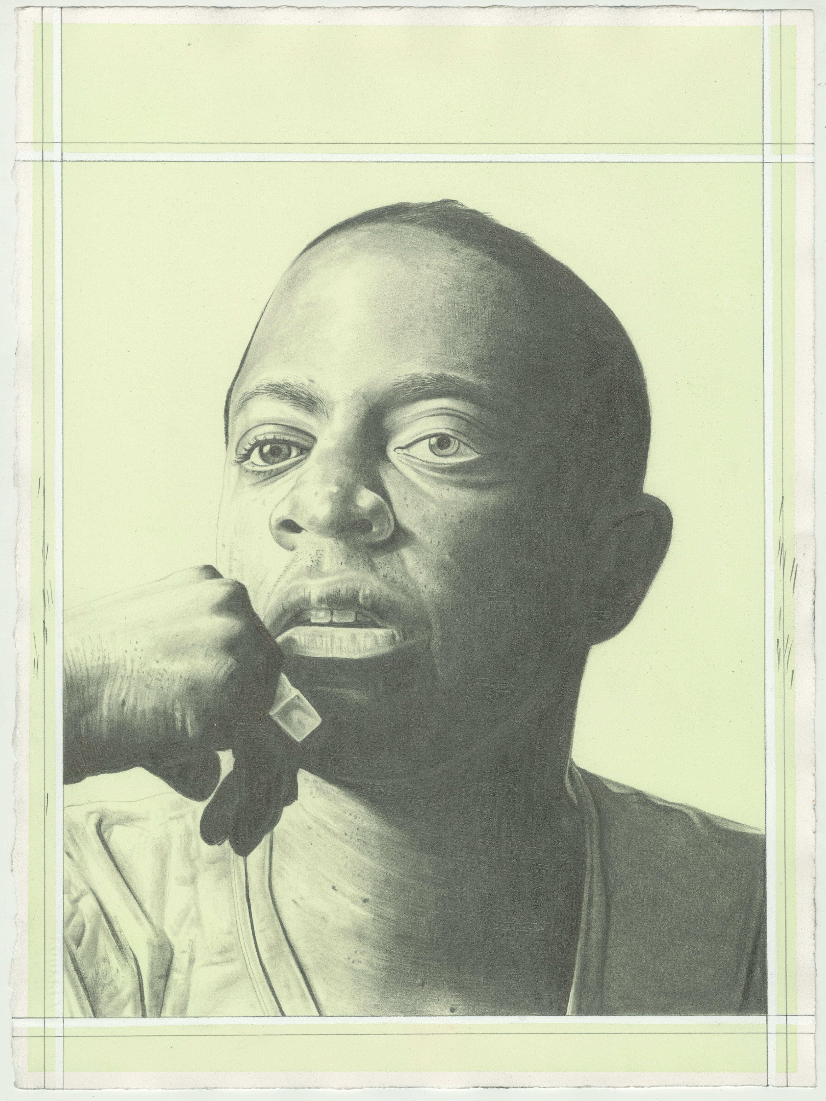 Portrait of Sanford Biggers. Pencil on Paper by Phong H. Bui