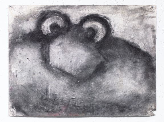 Joyce Pensato, <em>Untitled</em>, ca. 1990. Charcoal on paper, 22 1/2 x 30 inches. Courtesy The Joyce Pensato Estate and Petzel, New York.