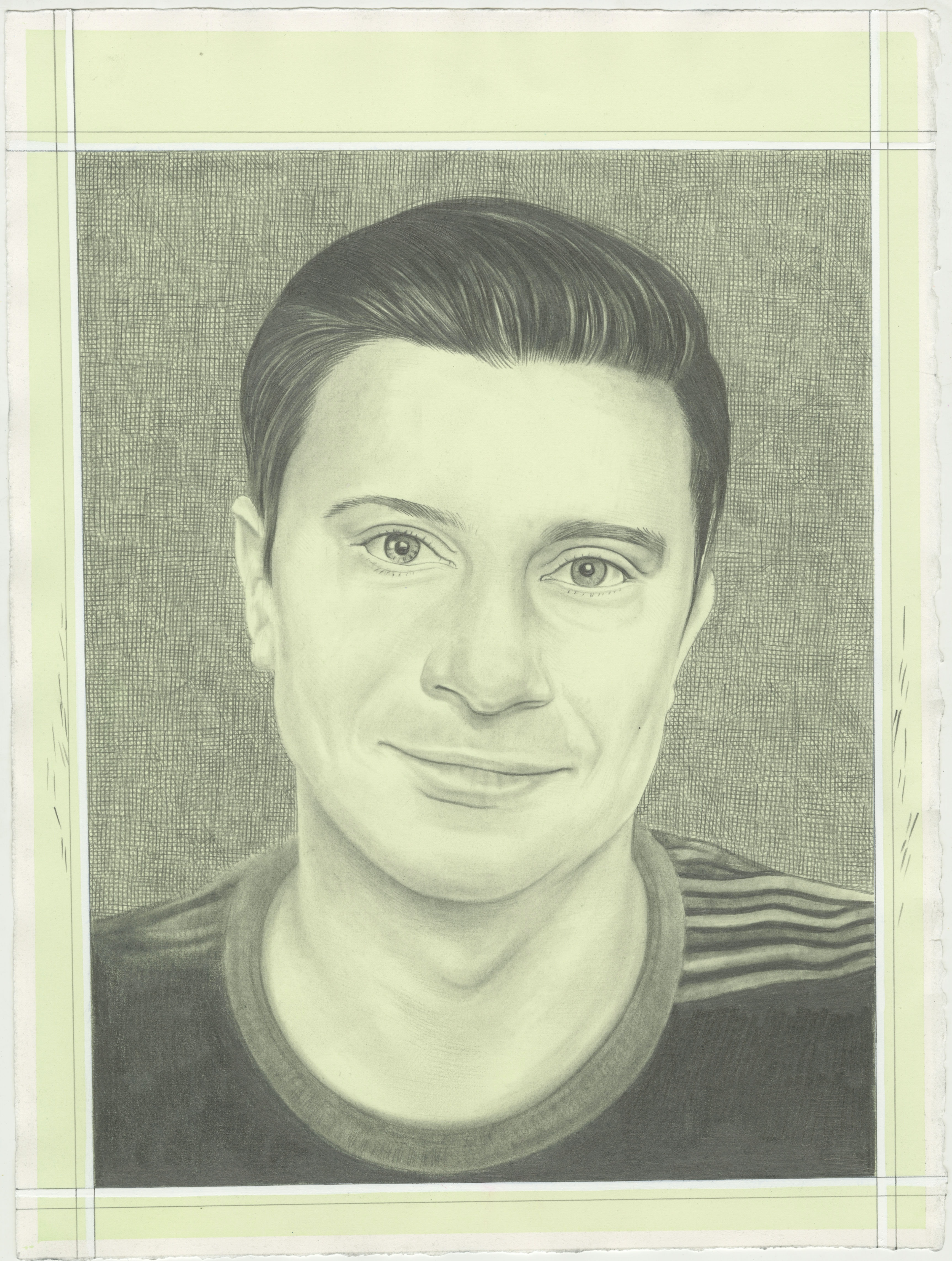 Portrait of Will Fenstermaker, pencil on paper by Phong H. Bui.