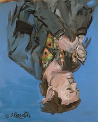 Georg Baselitz, <em>Da. Portrait (Franz Dahlem)</em>, 1969. Courtesy the Metropolitan Museum of Art, gift of the Baselitz Family, 2020. © Georg Baselitz 2021. Photo: Jochen Littkemann.