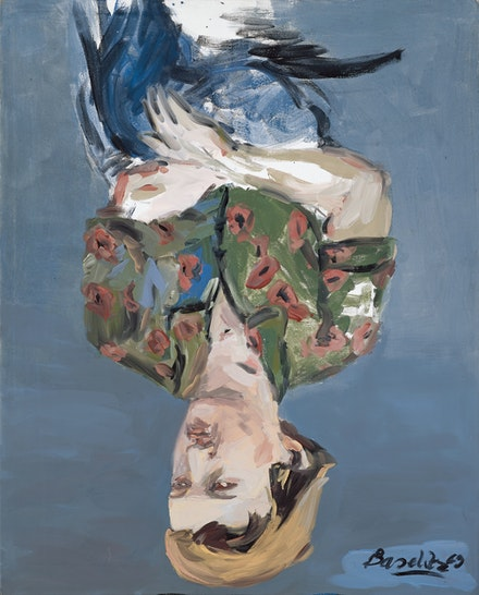 Georg Baselitz, <em>Fifties Portrait - M.W.</em>, 1969. Courtesy the Metropolitan Museum of Art, gift of the Baselitz Family, 2020. © Georg Baselitz 2021. Photo: Jochen Littkemann.