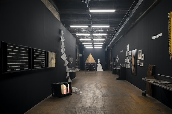 Installation view: <em>Queer Communion: Ron Athey</em>, curated by Amelia Jones, Participant Inc, NY, 2021. Photo: Daniel Kukla.