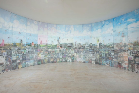 Jesse Krimes, <em>Apokaluptein 16389067</em>, 2010–13, Installation view in <em>Marking Time: Art in the Age of Mass Incarceration</em>, MoMA PS1, New York, 2021. Courtesy MoMA PS1. Photo: Matthew Septimus.