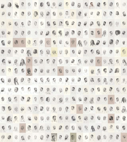 Mark Loughney, <em>Pyrrhic Defeat: A Visual Study of Mass Incarceration</em>, 2014–present. Graphite on paper (series of 500 drawings), 12 x 9 inches each. Courtesy the artist.
