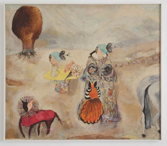 Ljiljana Blazevska, <em>Untitled (Slika)</em>, ca. 1975-85. Oil on canvas, 51 x 59 inches. Courtesy 15 Orient, New York.