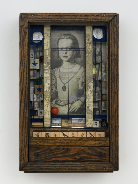 Joseph Cornell, <em>Untitled (Medici Princess)</em>, 1948. Wood box construction, 17 5/8 x 11 1/8 x 4 3/8 inches. Courtesy Craig Starr.