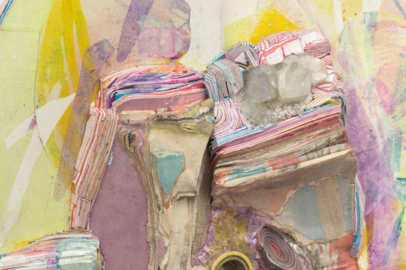 Hilary Harnischfeger, <em>Face like a picture</em> (detail), 2020. Courtesy the artist and Rachel Uffner, New York.
