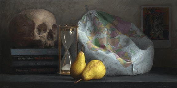 Conor Walton, <em>It's the End of the World as We Know It</em>, 2006. Oil on linen, 12 x 24 inches. Private Collection.
