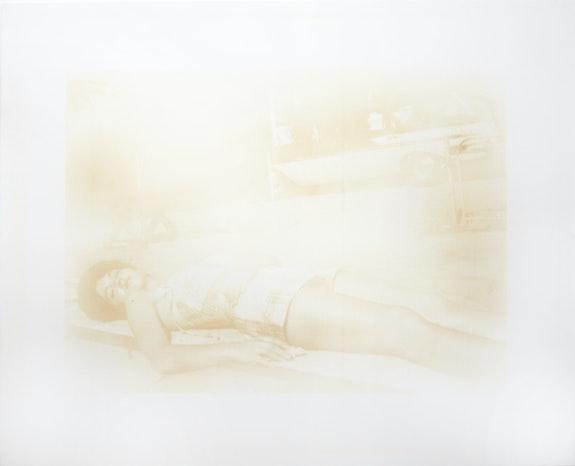 TR Ericsson, <em>California Sun (1963)</em>, 2020–21. Nicotine on gessoed panel, 48 x 60 inches. Courtesy TOTAH.