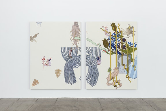 Installation view: <em>Caitlin Keogh: Waxing Year</em>, Overduin & Co., Los Angeles, 2021. Courtesy Overduin & Co.