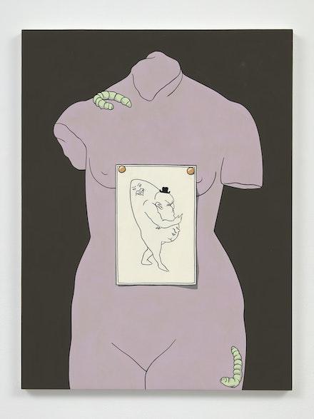 Caitlin Keogh, <em>Figure 1</em>, 2021. Acrylic on panel, 22 3/4 x 17 inches. Courtesy Overduin & Co.