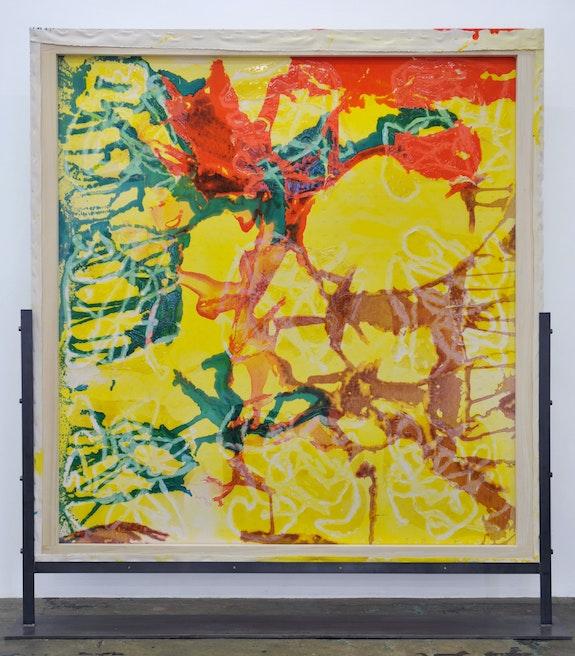 Dona Nelson, <em>Early September</em>, 2020. Acrylic and acrylic mediums on canvas, 83 x 78 inches. Courtesy Thomas Erben, New York.