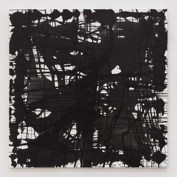 Arnold J. Kemp, <em>NUT-FREE I</em>, 2021. Acrylic and graphite on canvas, 69 x 69 inches. Courtesy Martos Gallery.