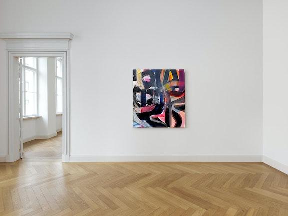 Liliane Tomasko, <em>The Question</em>, 2019. Acrylic on linen, 57 x 51 inches. Courtesy KEWENIG, Berlin.