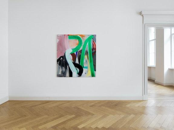 Liliane Tomasko, <em>Strident Green</em>, 2020. Acrylic on aluminium, 60 x 55 inches. Courtesy KEWENIG, Berlin.
