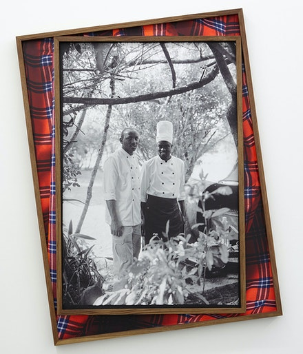 "David Alekhuogie, <em>post colonial bush breakfast ""no wahala""</em>, 2021."