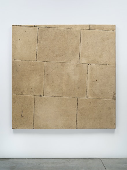 Boyle Family, <em>Concrete Pavement Study, Concrete Pavement Series </em>, 1976-77. Mixed media, resin, fibreglass, 72 1/8 x 72 1/8 inches. © Boyle Fanily; Courtesy of the artist and Luhring Augustine, New York.