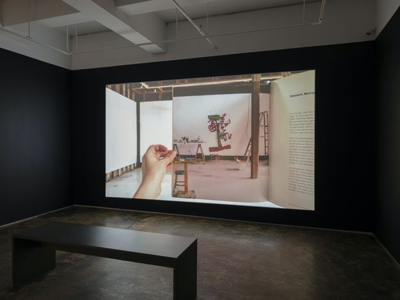 Installation view: <em>Kyoung eun Kang: TRACES: 28 Days in Elizabeth Murray's Studio</em>, A.I.R. Gallery, New York. Courtesy A.I.R. Gallery.