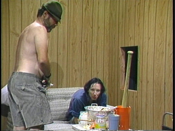 Paul McCarthy (with Mike Kelley), <em>Family Tyranny</em>, 1987. Video still. Single channel video, 8:18 min, color, sound. © Paul McCarthy. Courtesy the artist and Hauser & Wirth.