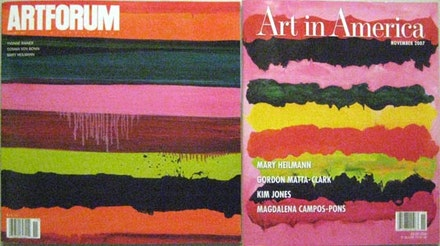 Mary Heilman ready-made, courtesy of Art in America and ARTFORUM, November 2007