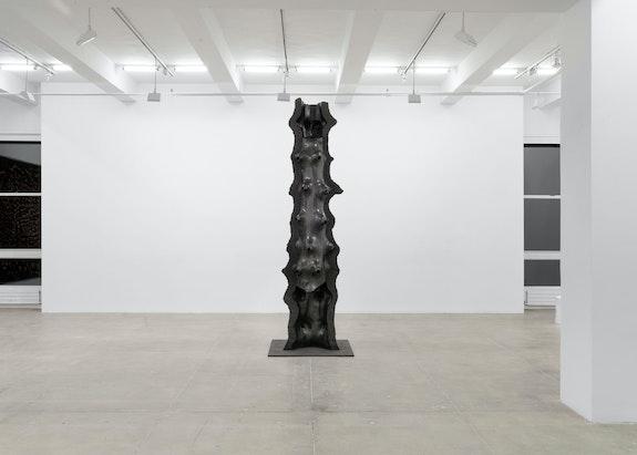 Giuseppe Penone, <em>Artemide</em>, 2019. Bronze, 135 1/8 x 43 3/4 x 40 1/2 inches. Courtesy of the artist and Marian Goodman Gallery. © Giuseppe Penone. Photo: Alex Yudzon.