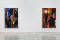 Installation view: <em>Lee Krasner: Collage Paintings 1938–1981</em>, Kasmin, New York. March 11–April 24, 2021. Artwork © 2021 Pollock-Krasner Foundation / Artists Rights Society (ARS), New York. Photo: Diego Flores.