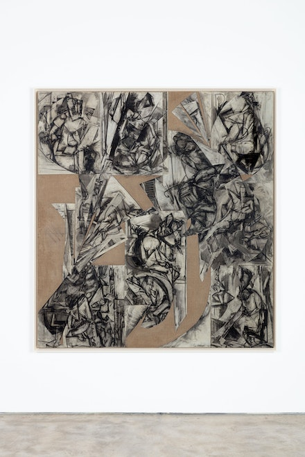 Lee Krasner, <em>Imperfect Indicative</em>, 1976. Collage on canvas, 78 x 72 inches. © 2021 Pollock-Krasner Foundation / Artists Rights Society (ARS), New York. Photo: Diego Flores.