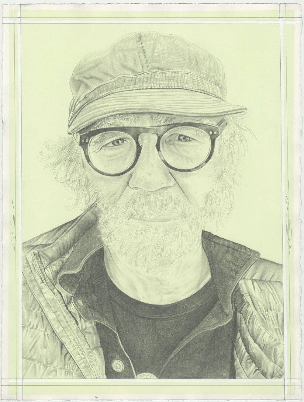 Portrait of Paul McCarthy, pencil on paper by Phong H. Bui.