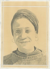 Rachel Eulena Williams, pencil on paper by Phong H. Bui.