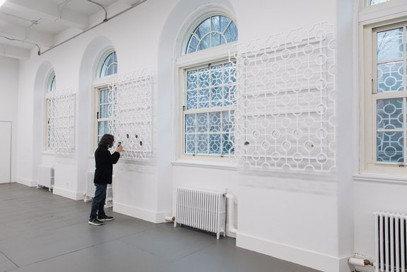Edra Soto, <em>GRAFT</em>, 2021. Commissioned by El Museo del Barrio. Installation detail Courtesy the artist and Muse del Barrio. Photo: E. Aaron Ross.
