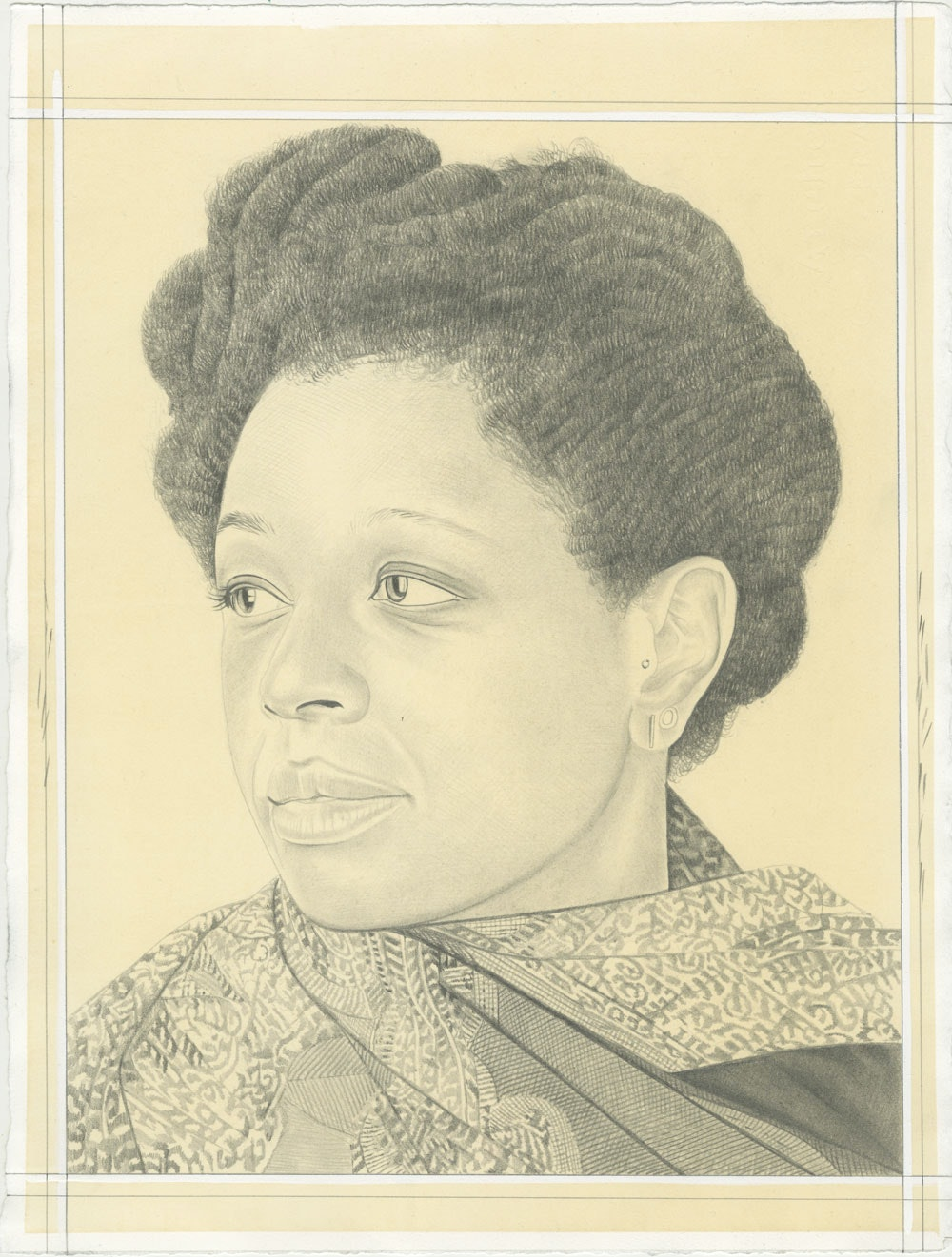 Allison Janae Hamilton, pencil on paper by Phong H. Bui.