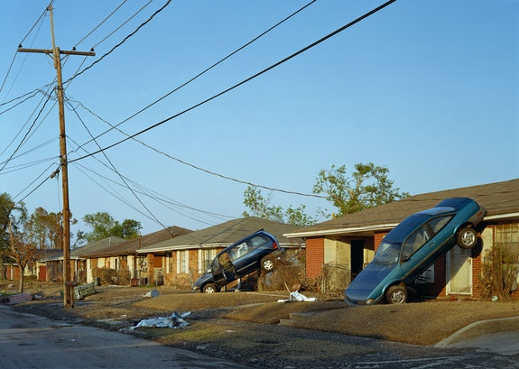 Robert Polidori, <em>2600 block of Munster Boulevard, New Orleans, LA</em>, 2005. Fujicolor crystal archive print mounted to dibond, 50 x 66 inches. Courtesy the artist and Kasmin Gallery.