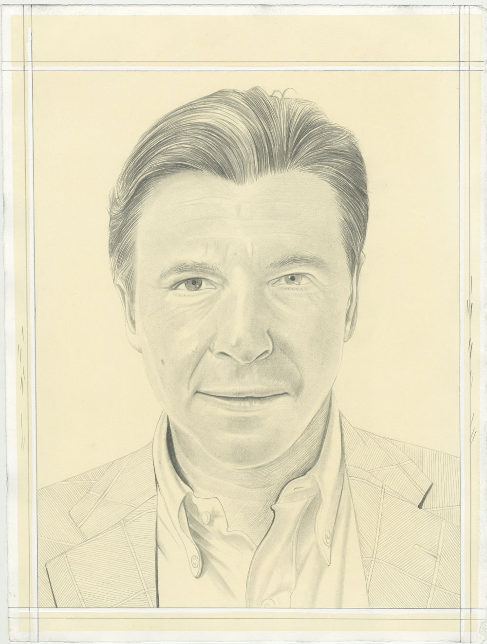 Robert Polidori. Pencil on Paper by Phong H. Bui.