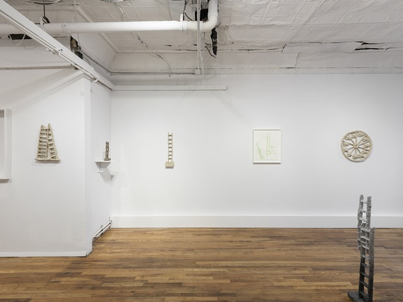 Installation view: William Corwin: <em>Green Ladder</em>, Geary Contemporary, New York, 2021. Courtesy Geary Contemporary.