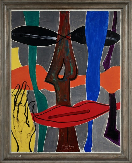 Man Ray, <em>Non-Abstraction</em>, 1947. Oil on panel, 36 1/4 x 27 1/2 inches. © Man Ray 2015 Trust / Artists Rights Society (ARS), NY / ADAGP, Paris 2021.