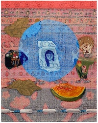 Talia Levitt, <em>My Moon</em>, 2021. Acrylic on canvas, 20 x 16 inches. Courtesy ATM Gallery.