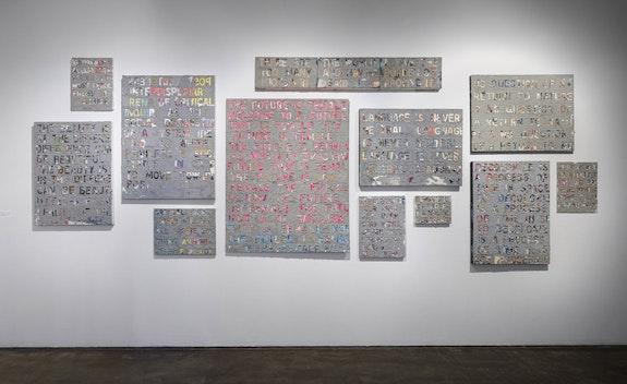 Installation view: <em>jc lenochan</em>: <em>UNDOING WHITE MESS, </em>Smack Mellon, New York, 2021. Courtesy the artist and Smack Mellon.