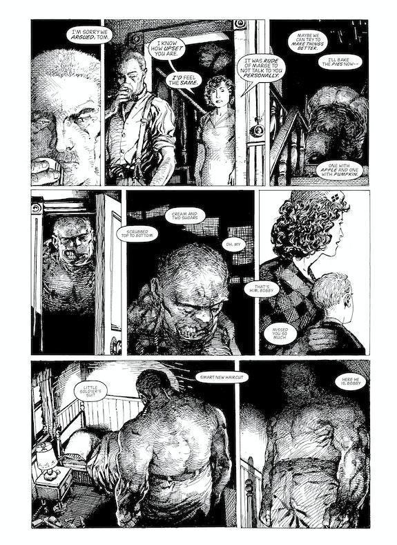 Barry Windsor-Smith, <em>Monsters</em>, Fantagraphics Books, p. 132.