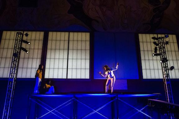 <em>Picture Bayview Hunters Point</em>, Zaccho Dance Theatre, 2018.  Pictured (L-R): Jarrel Phillips, Asha Romesburg, Aliyah Dunn-Salahuddin. Photo: Kegan Marling.