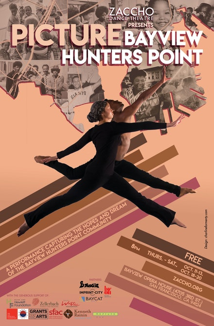 Poster for <em>Picture Bayview Hunters Point</em>, Zaccho Dance Theatre, 2018.  Design: Charline Formenty.