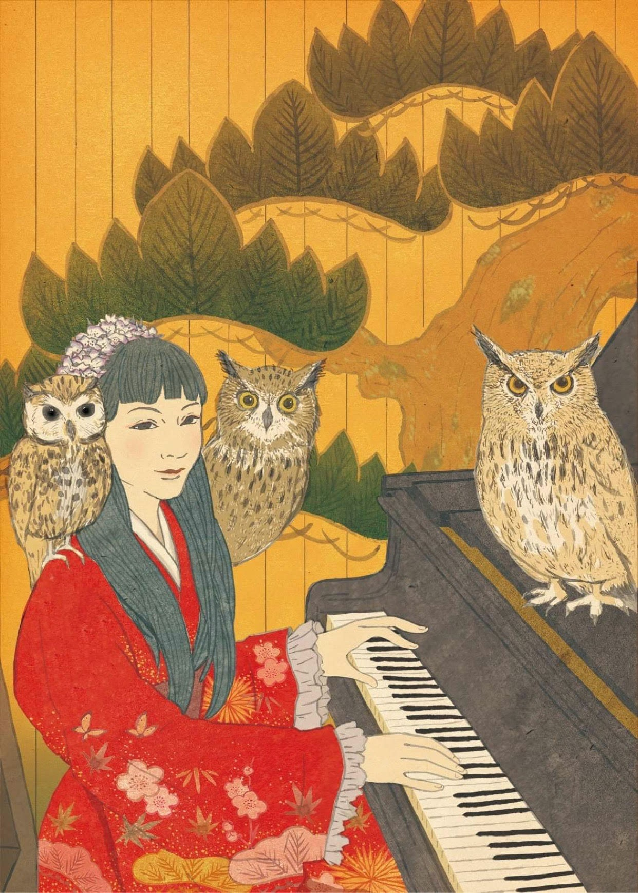 Shiho Yabuki. Illustration by Non Nakagawa.