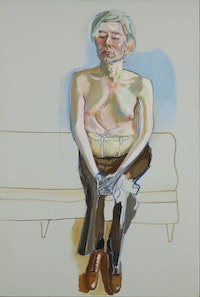 Alice Neel, <em>Andy Warhol</em>, 1970. Oil and acrylic on linen, 60 x 40 inches. Whitney Museum of American Art, New York. © The Estate of Alice Neel. Courtesy the Metropolitan Museum of Art.
