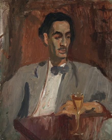 Alice Neel, <em>Carlos Enríquez</em>, 1926. Oil on canvas, 30 1/4 x 24 inches. Estate of Alice Neel
