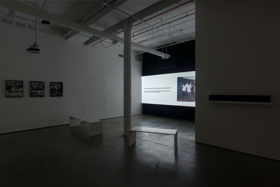 Installation view:<em> Kim Juwon: The night, the past recalls the past</em>, DOOSAN Gallery New York, 2021. Courtesy the artist and DOOSAN Gallery New York. Photo: Kim Juwon.