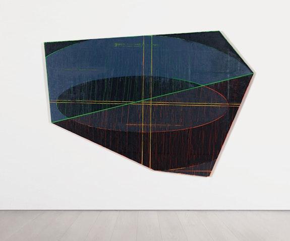 David Row, <em>Storm Warning/ Breakdown</em>, 2020. Oil on panel, 70 x 100 inches. Courtesy Locks Gallery, Philadelphia.
