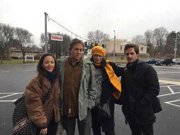 Lucía Hinojosa, Raymond Foye, Anne Waldman, Diego Gerard. Woodstock, January, 2020.