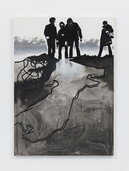 Wilhelm Sasnal, <em>Glue Rundown</em>, 2020. Oil on canvas, 63 x 47 1/4 inches. © Wilhelm Sasnal. Courtesy the artist and Anton Kern Gallery, New York.