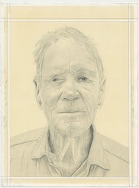 Portrait of Alex Hay, pencil on paper by Phong H. Bui.