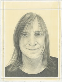 Portrait of McKenzie Wark, pencil on paper by Phong H. Bui